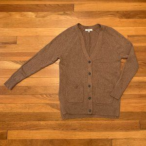 Madewell Camel Button Up Cardigan XS